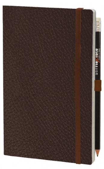 notitieboek Leatherlike 21 x 13 cm papier bruin 2-delig