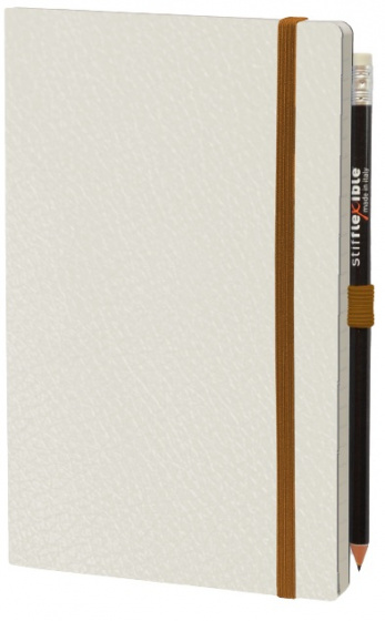 notitieboek Leatherlike 21 x 13 cm papier wit 2-delig