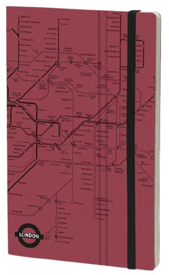 notitieboek London 21 x 13 cm papier/karton rood