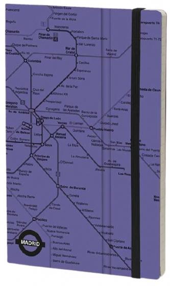 notitieboek Madrid 21 x 13 cm papier/karton paars