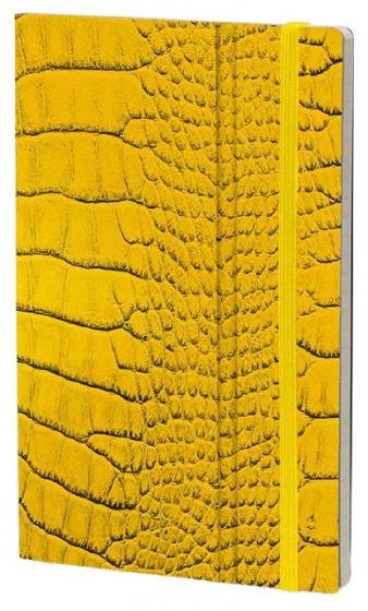 notitieboek Mrs. Crocodile 21 x 13 cm karton/papier geel