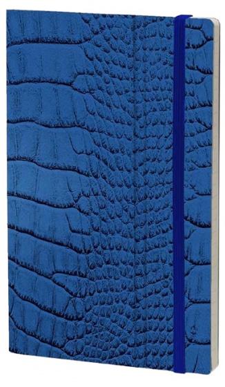 notitieboek Mrs. Crocodile 21 x 13 cm papier blauw