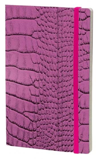 notitieboek Mrs. Crocodile 21 x 13 cm papier roze