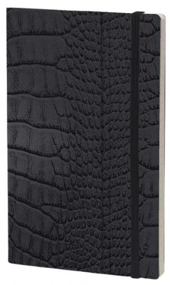 notitieboek Mrs. Crocodile 21 x 13 cm papier zwart