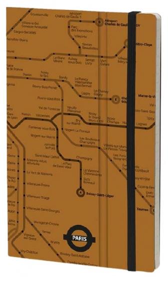 notitieboek Paris 21 x 13 cm papier/karton bruin