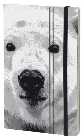 notitieboek Polar Bear 21 x 13 cm karton/ivoor papier