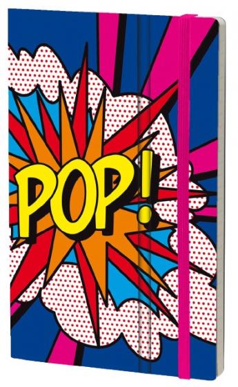 notitieboek Pop 21 x 13 cm karton/ivoor papier