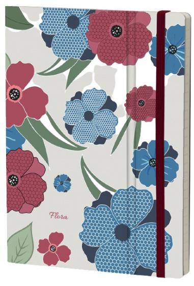 notitieboek Poppy 21 x 15 cm karton/ivoor papier