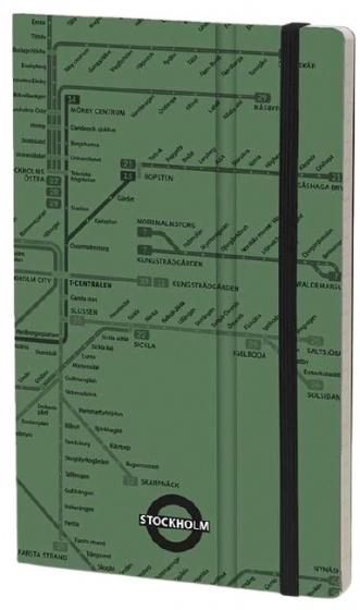 notitieboek Stockholm 21 x 13 cm papier/karton groen