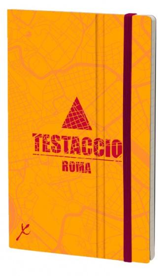 notitieboek Testaccio 21 x 13 cm karton/papier oranje