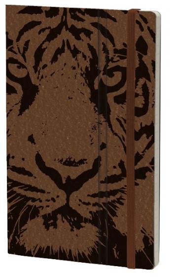 notitieboek Tiger 21 x 13 cm karton/ivoor papier