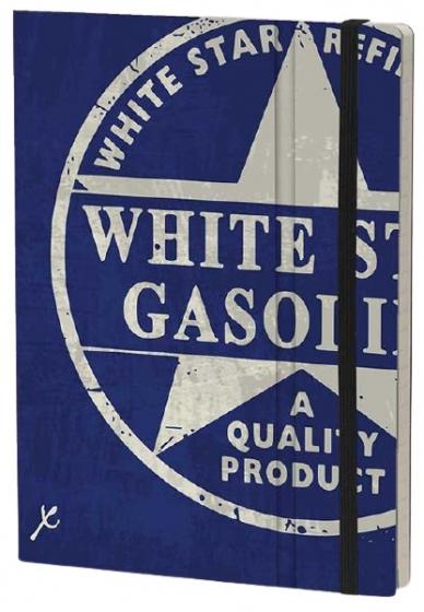 notitieboek White Star 21 x 15 cm karton/ivoor papier