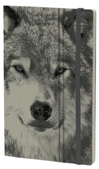 notitieboek Wolf 21 x 13 cm karton/ivoor papier