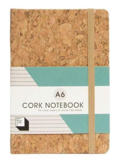 notitieboek A6 - 14,2 x 10 cm kurk/papier bruin