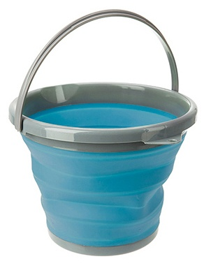 pop-up emmer siliconen/kunststof 10 liter blauw