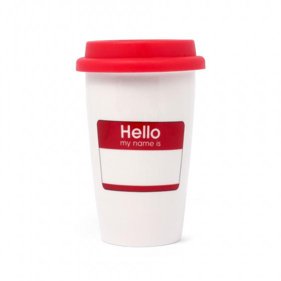 reismok Hello, my name is 275 ml keramiek wit