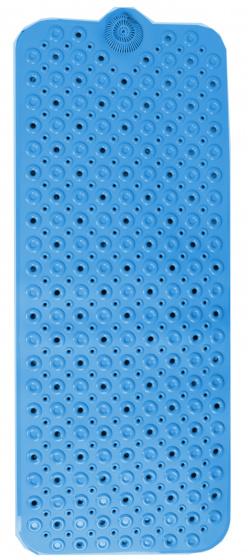 badmat 100 x 40 cm PVC blauw