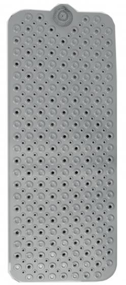 badmat 100 x 40 cm PVC grijs