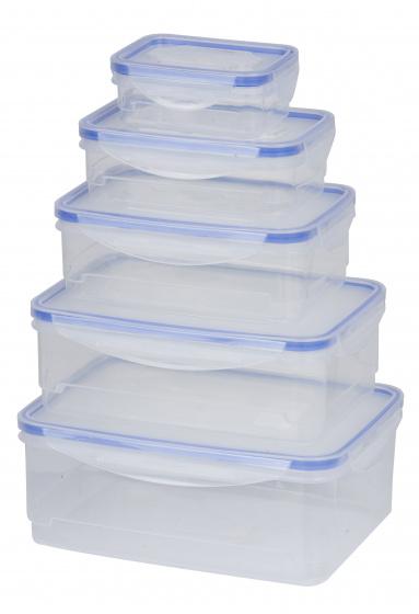 bewaardozenset 0,17 - 2,3 liter polypropeen 10-delig