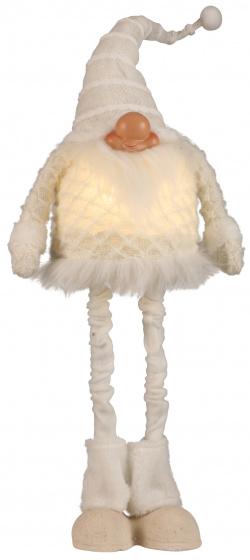 gnoom 73 cm textiel wit
