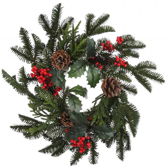 kerstkrans Patton 40 cm rood/groen