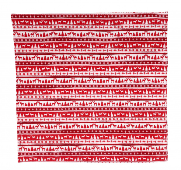 plaid 170 x 130 cm polyester rood/wit
