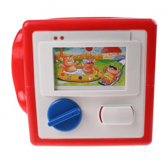 Turn N Learn kubus 14,5 cm rood