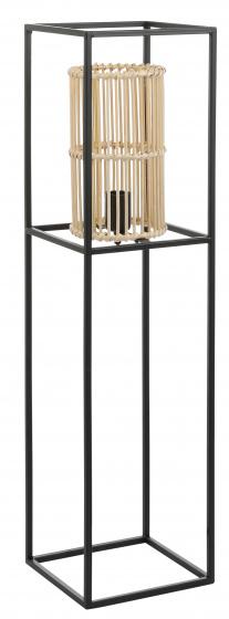 vloerlamp Lino 22 x 86 cm staal zwart