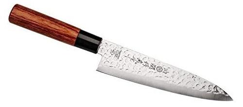 koksmes Gyutou 30,9 cm RVS/hout zilver/bruin