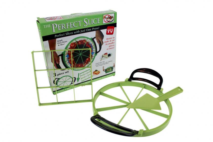 taartsnijder 3-in-1 32 cm groen