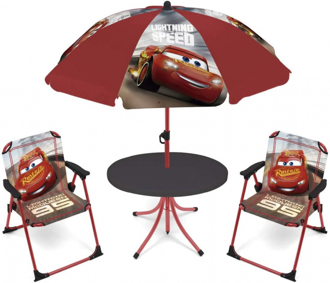 tuinset met parasol Cars polyester rood 4-delig