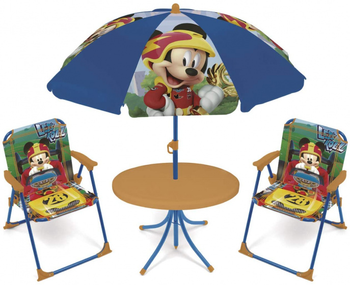 tuinset met parasol Mickey Mouse 4-delig