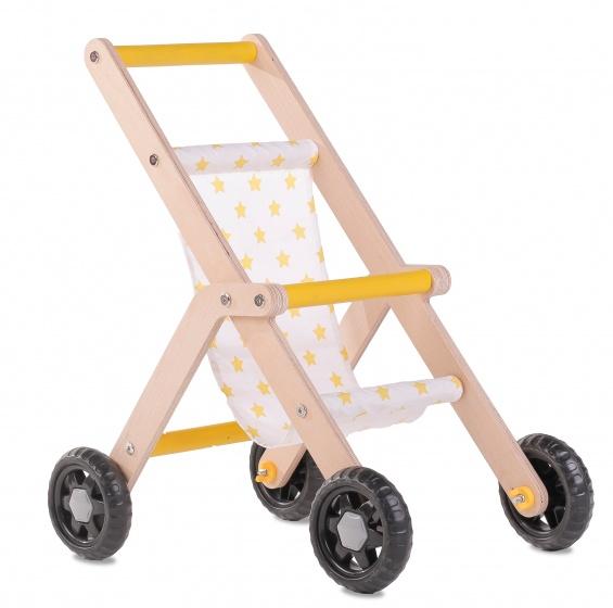poppenbuggy Doll Stroller naturel/geel
