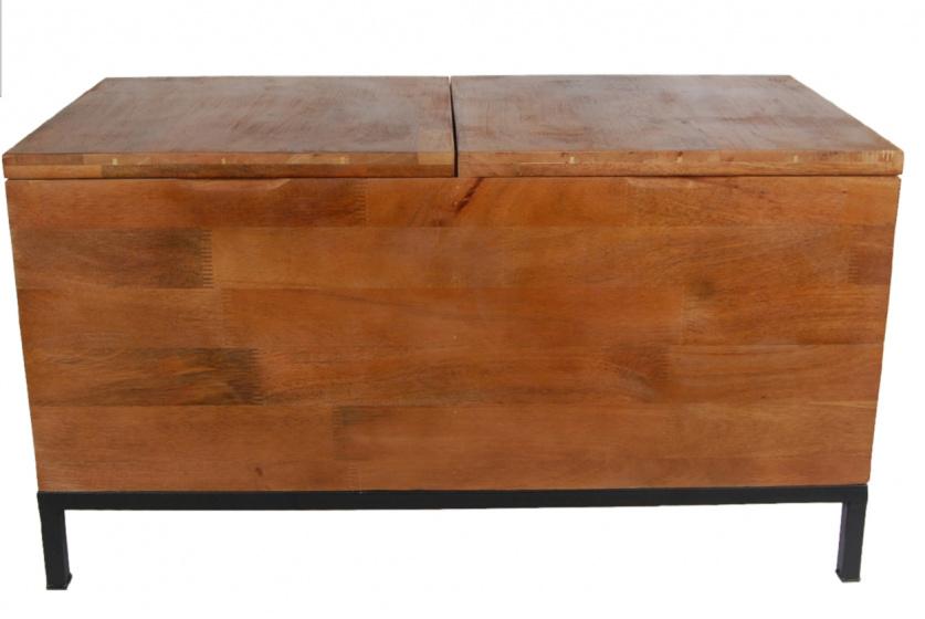 Gifts Amsterdam opbergbox 'Danique' met twee vakken 78x38x42 cm hout