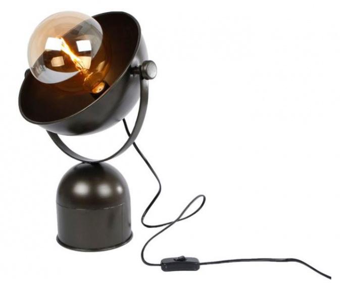 tafellamp Ivan 31 x 21,5 cm staal zwart