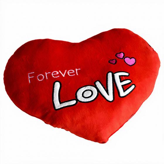 kussen hart Forever Love 35 cm rood