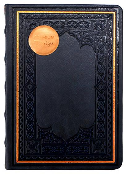 notitieboek Old Books 12 x 17 cm karton/papier donkerblauw
