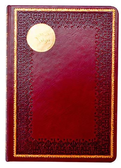 notitieboek Old Books 14 x 20 cm karton/papier rood