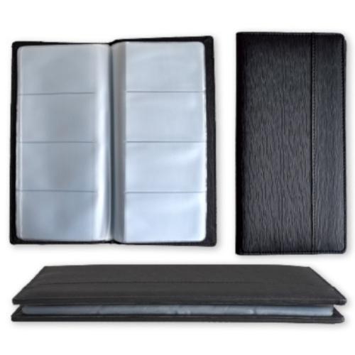 visitekaartmap 25,5 x 12,5 cm zwart 128-vaks
