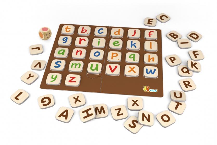 educatief spel alfabet hout 54-delig
