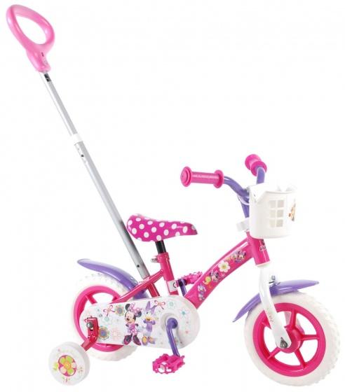 Volare Minnie Mouse dětské kolo 10 palců 18 cm s vodící tyčí