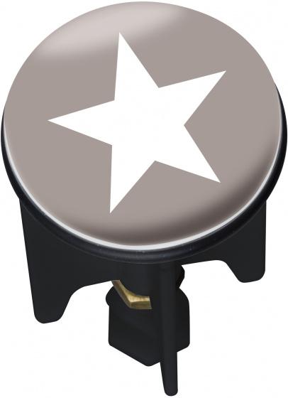 afvoerstop Pluggy Stella 3,9 x 6,5 cm grijs