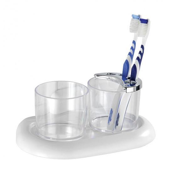 tandenborstelhouder Pure ABS 20 cm transparant