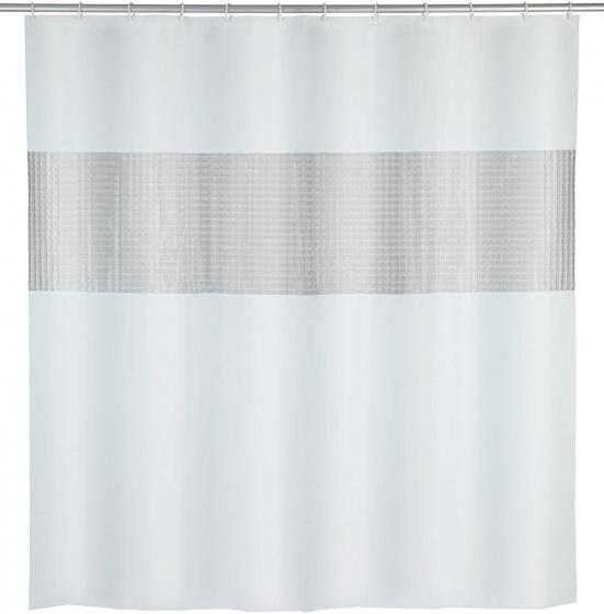 douchegordijn 200 x 180 cm EVA wit/grijs