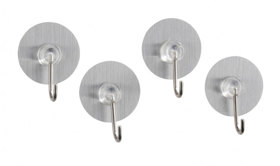 handdoekhaak Osimo Static-Loc 3,8 x 2,1 cm chroom 4 stuks