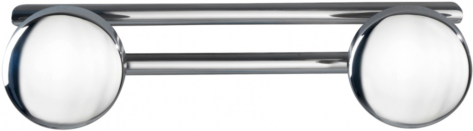 reling met 2 haken Basic 24,5 x 6,5 cm RVS chroom/zilver