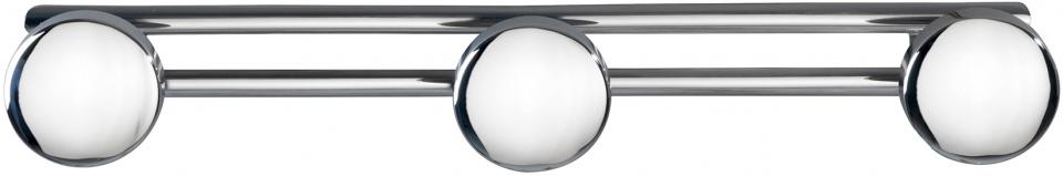 reling met 3 haken Basic 42,5 x 6,5 cm RVS chroom/zilver