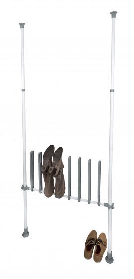 schoenenrek Herkules Boots 94 x 45 x 6,5 cm RVS wit