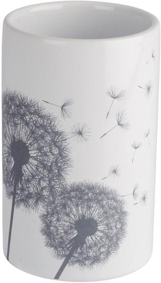 tandenborstelhouder Astera 7 x 11 cm keramiek wit/grijs