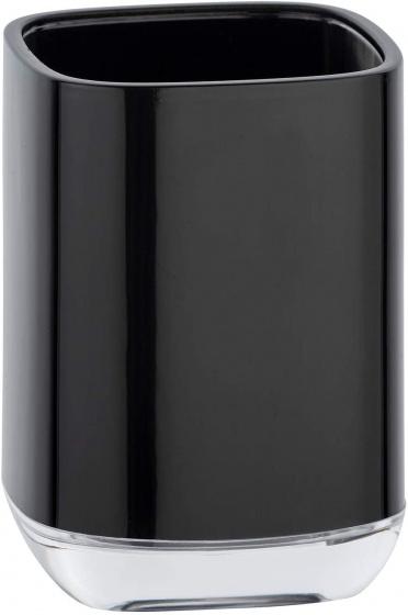badkamerbeker Masone 10,5 x 7,5 cm polystyreen zwart